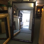 Image of NEW Ebony Bamboo Floor Mirror