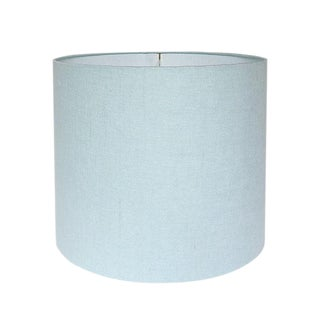 New, Made to Order, Robins Egg Blue Linen, Large Drum Shade