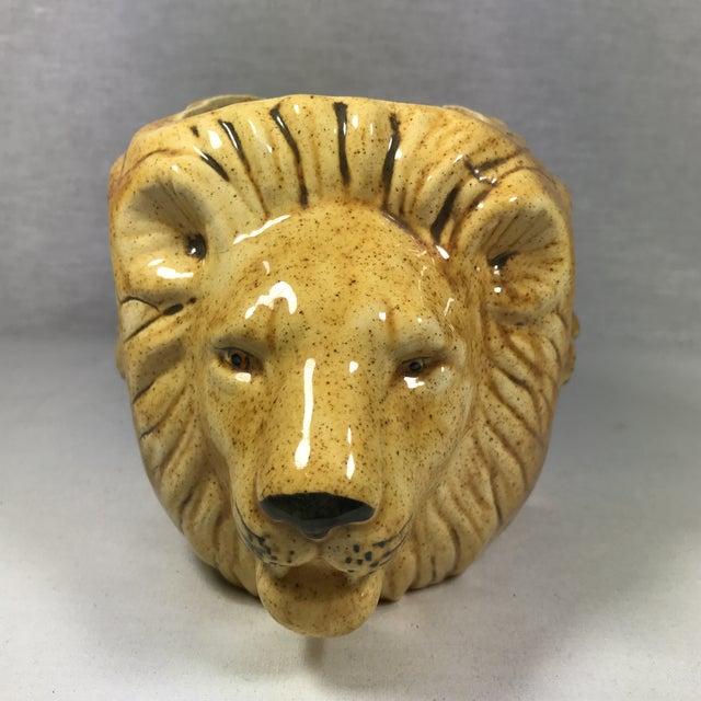 Mid-Century Lion Head Planter or Vase - Image 5 of 11