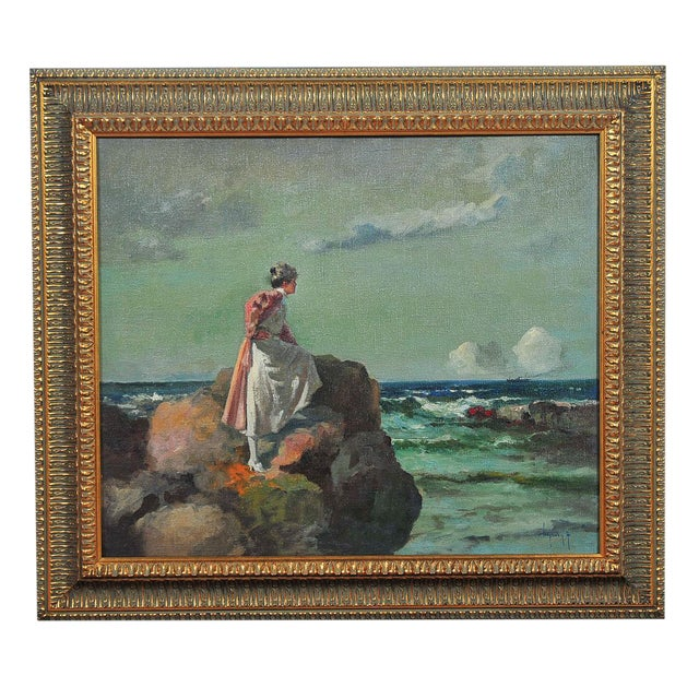 """Woman Looking at Sea,"" Painting by A. Neogrady - Image 1 of 9"