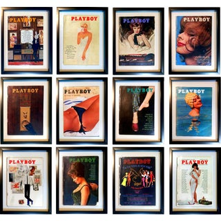 Framed 1962 Playboy Magazine Collection- S/12