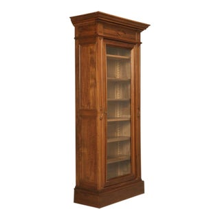 Antique French Bookcase in Solid Walnut