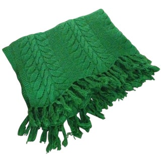 Vintage Emerald Green Throw