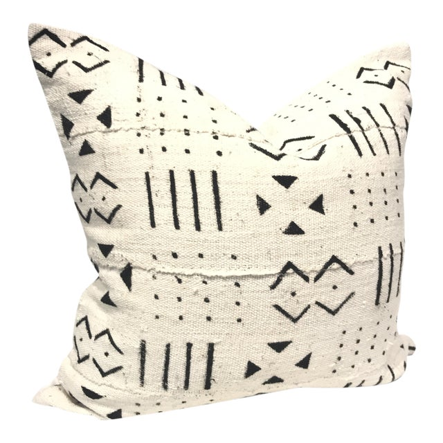 African Mud Cloth Pillow Cover - Image 1 of 4