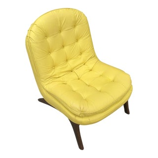 Adrian Pearsall Style Mid-Century Modern Scoop Slipper Lounge Chair