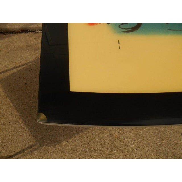 Artist Inspired Aluminum and Acrylic End Table - Image 5 of 5
