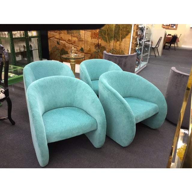 Mid-Century Modern Turquoise Chairs - Set of 2 - Image 2 of 5
