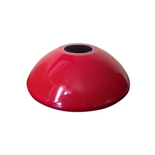 Red Mid-Century Modern Cased Glass UFO Vase
