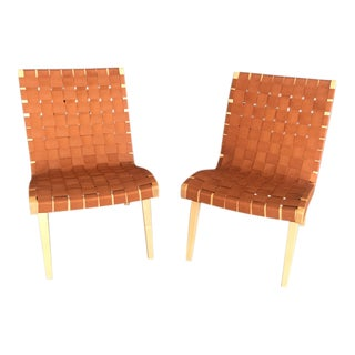 Knoll Risom Armless Lounge Chairs - A Pair