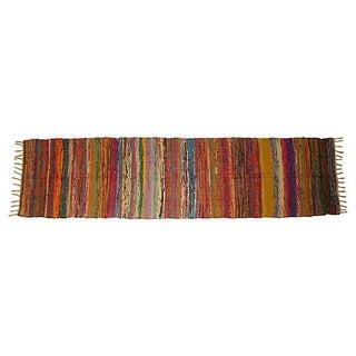 Boucherouite Striped Rug - 8' X 2'