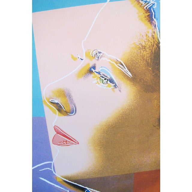 "1984 Andy Warhol ""Ingrid Bergman"" Swedish Exhibition Poster - Image 2 of 4"