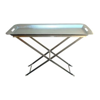 Hammered Silver Removable Tray Table