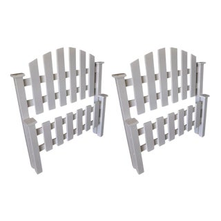 White Picket Fence Twin Beds - A Pair
