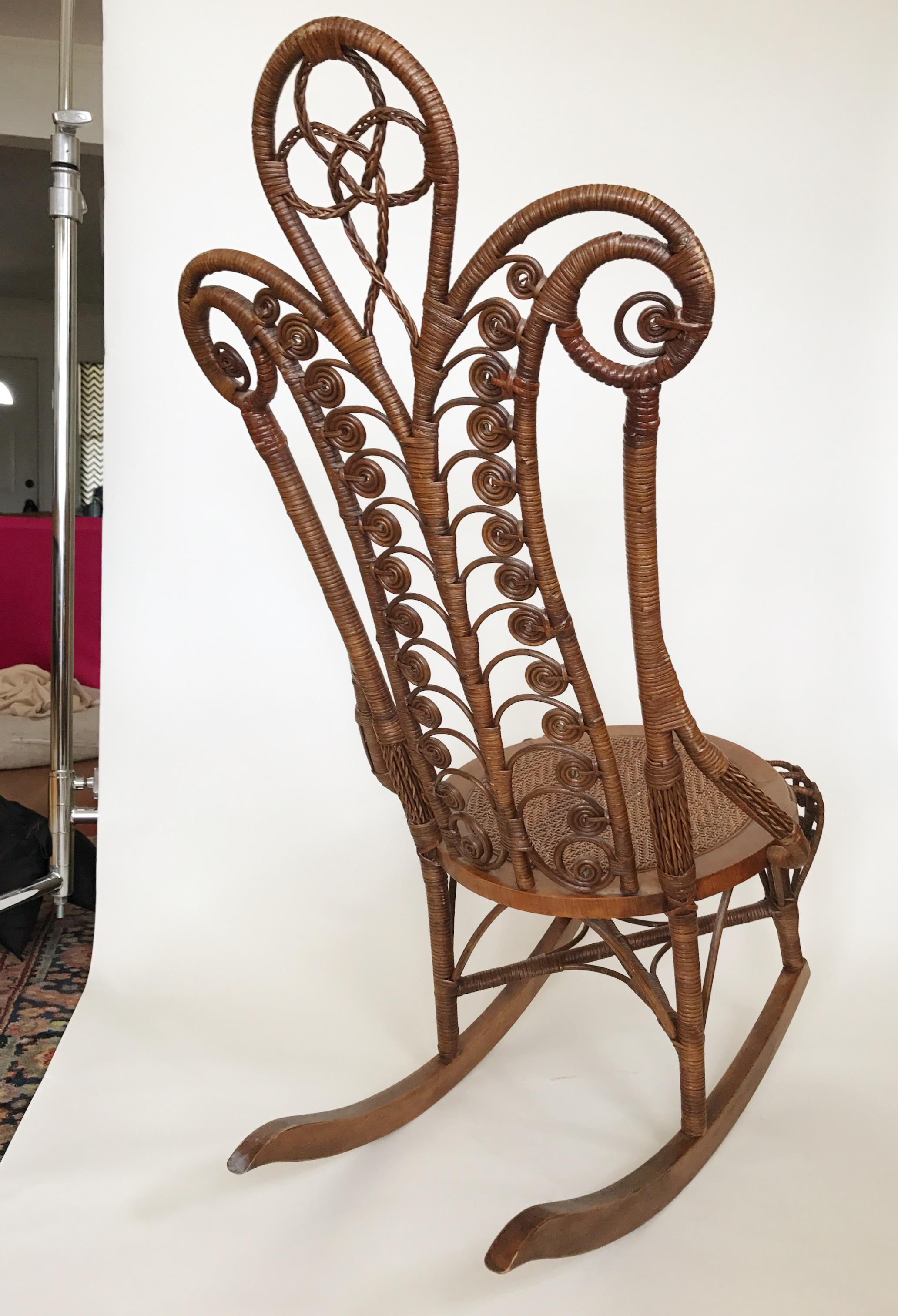 wicker rocking chair image 5 of 6