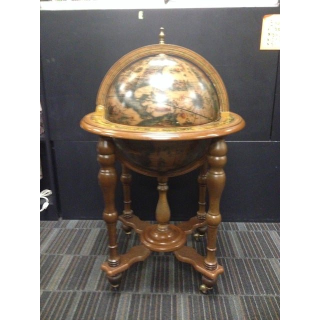 Vintage Mid-Century Rotating Old World Globe Bar - Image 2 of 7