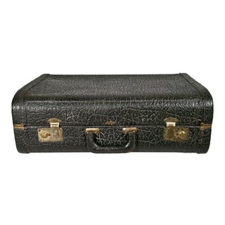 Vintage 1930s Stylite Walrus Leather Suitcase