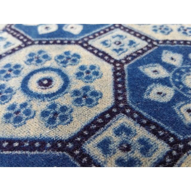Indigo English Tile Pillows - Image 4 of 5