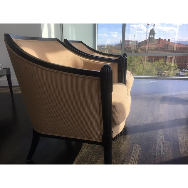 Art Deco Style Lounge Chairs - A Pair - Image 4 of 11