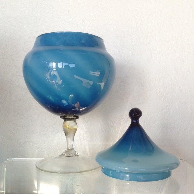 Large Swirl Turquoise Apothecary - Image 4 of 4