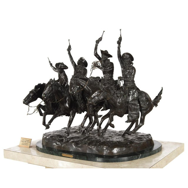 """F. Remington """"Coming Through the Rye"""" Bronze Sculpture - Image 9 of 11"""