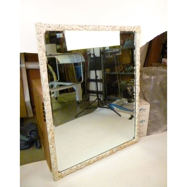 Shabby Chic Hand-Carved Mirror - Image 3 of 9