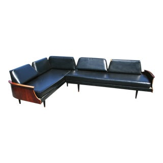 Frank & Sons Mid Century Modern 2 Piece Corner Daybed Sofa