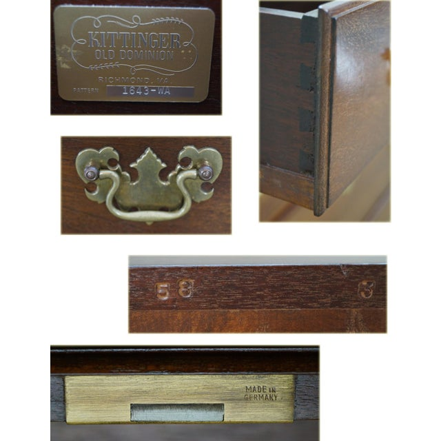 Kittinger Old Dominion Mahogany Chippendale Style Chest of Drawers Chest - Image 8 of 10