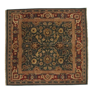 "Pasargad NY Fine Indo Agra Hand-Knotted Indian Rug - 9'10"" x 10'3"""