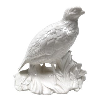 White Ceramic Pheasant Figure