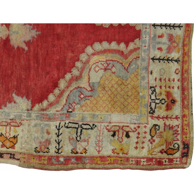 "Image of Antique Turkish Distressed Rug - 4'7"" X 9'3"""