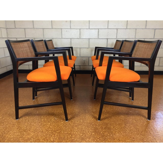 Edward Wormley for Dunbar Dining Arm Chairs - Set of 6 - Image 2 of 11