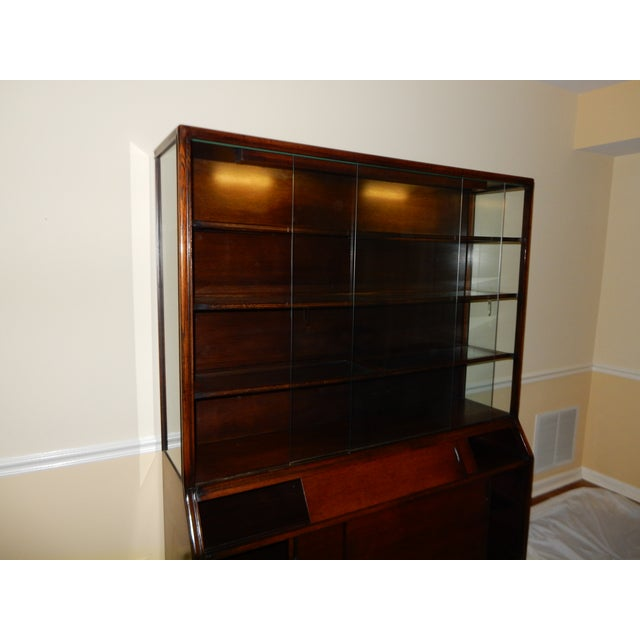 Image of Mid-Century Glass Front China Display Cabinet