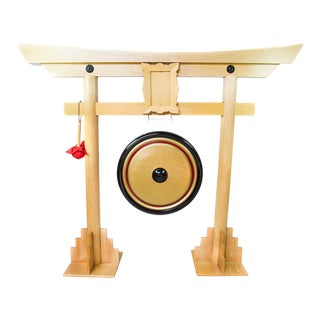 Traditional Chinese Gong Stand With Mallet