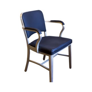 Upholstered Navy Emeco Chair
