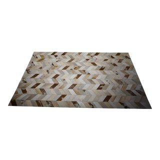 Contemporary Hair on Hide Rug - 5′ × 8′
