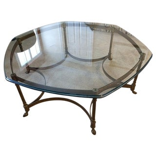 La Barge French Brass and Glass Coffee Table