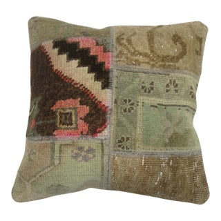 Patchwork Turkish Rug Pillow
