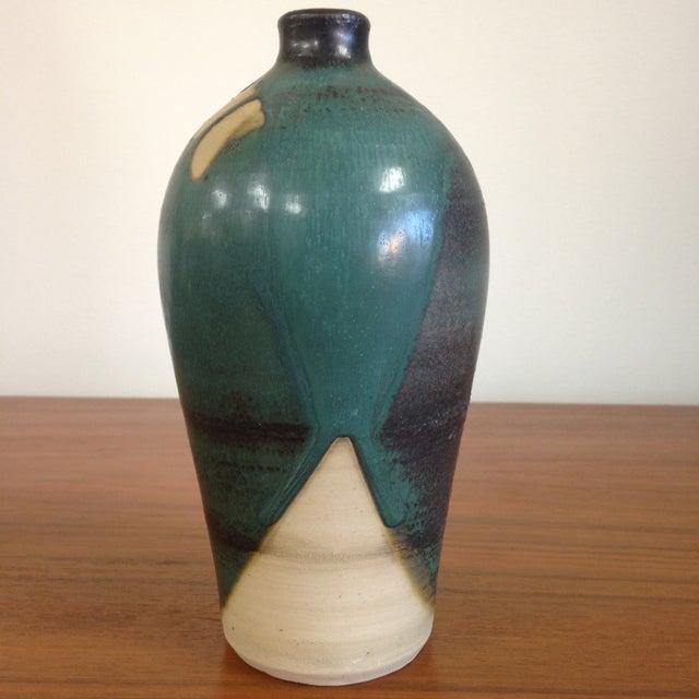 Teal Petite Ceramic Vase - Image 6 of 6