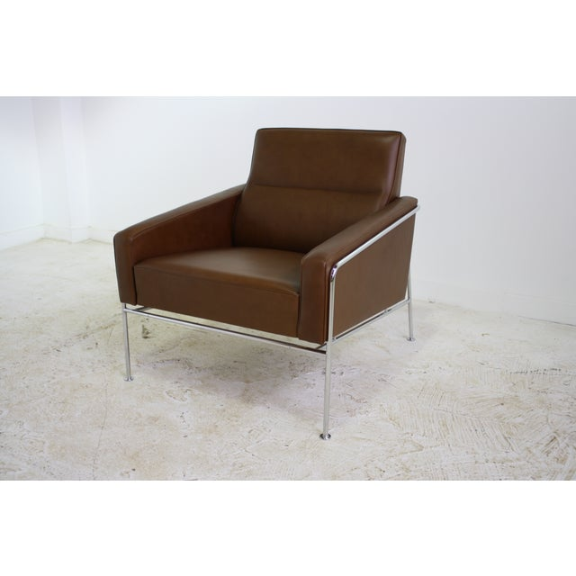 Fritz Hansen Leather Lounge Chair - 6 Avail. - Image 2 of 7