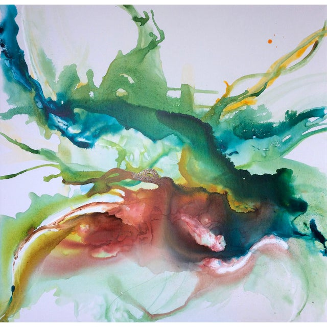Hustle & Flow Original Abstract Painting - Image 1 of 6