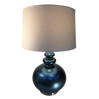 Blue Contemporary Ball Lamp