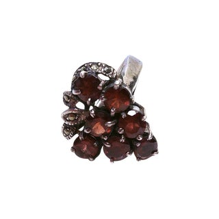 Garnet Grape Bunch & Sterling Ring