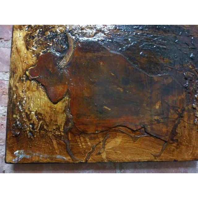Image of Michael Gorman Bull Painting