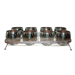 8-Piece Dorothy Thorpe-Attributed Ombre Glasses