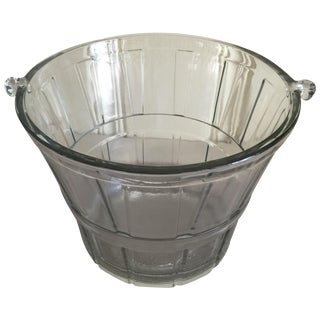 Heavy Glass Vintage Ice Bucket