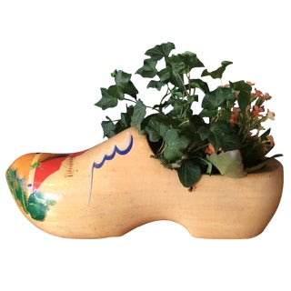 Dutch Wood Clog Planter