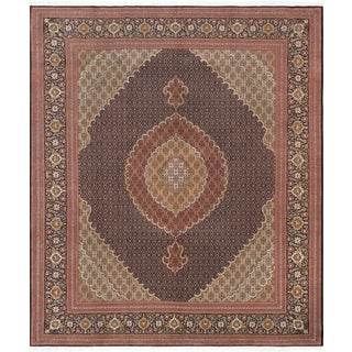 Pasargad Tabriz Silk & Wool Area Rug - 8′3″ × 9′10″