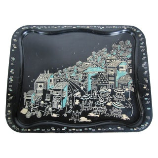 1950's Black Parisienne Tray