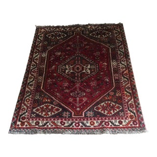 Antique Shiraz Rug - 3′8″ × 5′