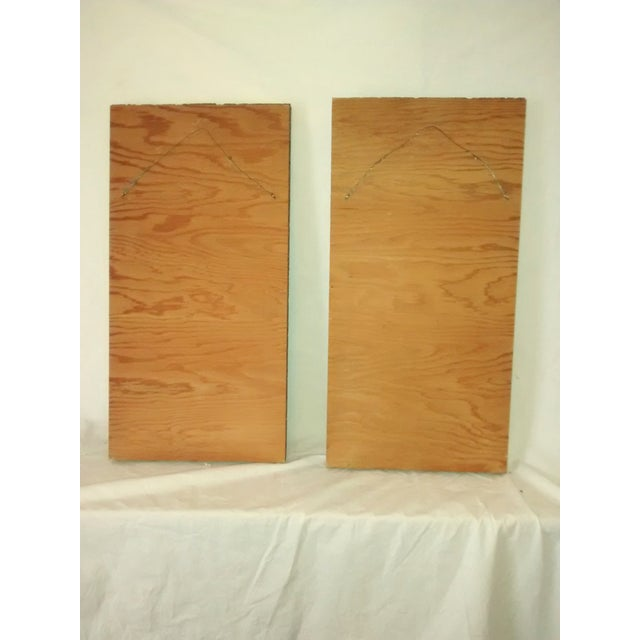 Mid-Century Gravel Cork Board Art - Pair - Image 6 of 6
